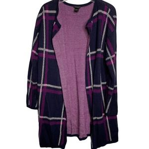Ann Taylor Size Large Cardigan Sweater Navy Blue